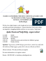 holy ground of family life flier