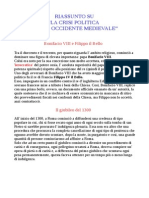 La crisi politica dell' Occidente medievale ed i Principati, monarchie e imperi nel Trecento e nel Quattrocento