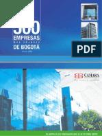 500 Empresas Mas Grandes de Bogota en El 2005