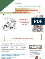 Thème 122 - L'ascenseur social.ppt