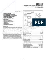 LH1540 - HIGH VOLTAGE - SOLID STATE RELAY OPTOCOUPLER.pdf