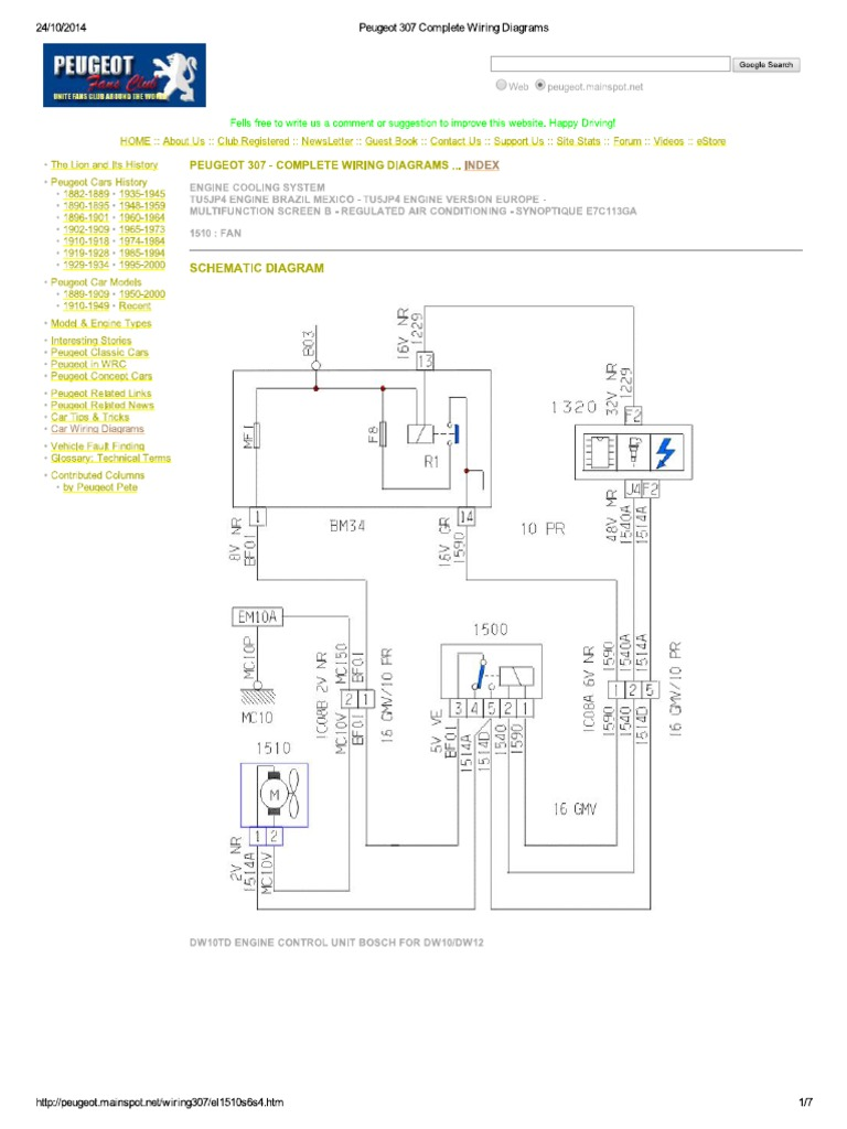 Groovy Peugeot 307 Complete Wiring Diagrams Wiring Digital Resources Nekoutcompassionincorg