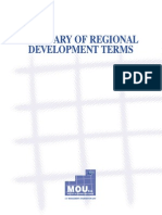 Glossary of Regional Development Terms