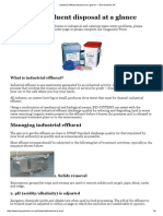 Industrial Effluent Disposal at a Glance — Bio-Systems SA