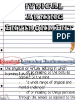 Physical Learning Environment