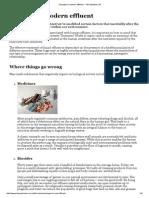 Changes in Modern Effluent — Bio-Systems SA