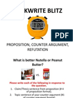 quickwrite blitz--proposition counter argument refutation