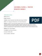 Servizio Di Ingegneria Clinica - Test Di Verifica Di Dispositivi Medici