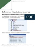 Define partner determination procedure sap – SAP Training Tutorials.pdf