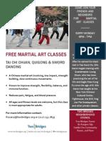FREE MARTIAL ART CLASSES