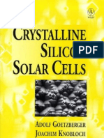 Crystalline Silicon Solar Cells