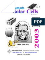 Free Energy Homemade Solar Cells