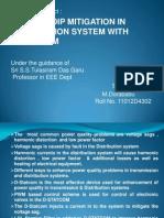 voltage tip mitigation in distribution system