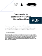 2014 DC Mayoral Candidate Questionnaire