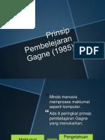 Prinsip Pembelejaran Gagne (1985)