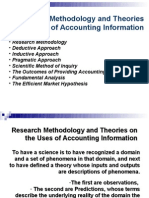 Research Methodology and Theories on the Uses of Accounting Information