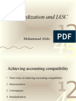 Iasc and Standardization