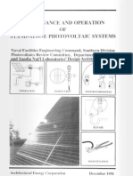 Solar Power- Maintenance and Operation of Stand-Alone Photo Voltaic Systems