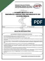 Prova Residencia Medica com pre-requisito em Clinica Medica.pdf