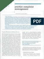 Best-practice Complaint Management