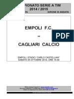 Empoli-Cagliari - 8° giornata serie A.doc