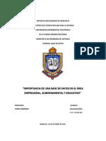 IMPORTANCIA DE UNA BASE DE DATOS EN EL ÁREA EMPRESARIAL, GUBERNAMENTAL Y EDUCATIVO.docx