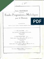 Paul Jeanjean - Etudes Progressives et Mélodiques pour la Clarinette - 1º cahier (assez facile).pdf