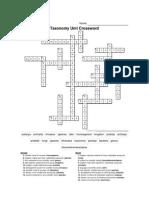 taxonomy crossword answer key