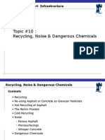 Lecture #10 Recycling, Noise and Dangerous Chemicals