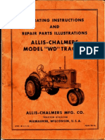 Allis Chalmers WD Factory Service Manual