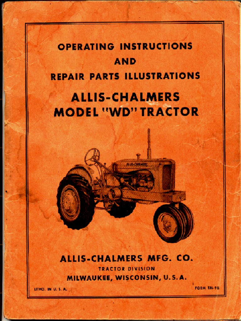 1948 Allis Chalmers Wd Wiring Diagram Trusted Factory Service Manual Clutch Carburetor D14