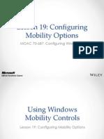 MOAC 70-687 L19 Mobility Options