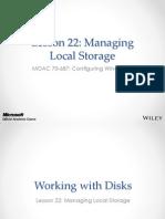 MOAC 70-687 L22 Storage