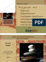 Balanced Business Plan - 2015