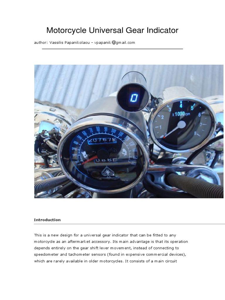Motorcycle Universal Gear Indicator | Printed Circuit Board