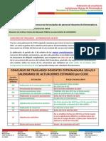 Oposiciones Extremadura 2015 y Concurso de traslados