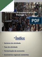 Trabalho Estrutura da população activa em Portugal.pptx