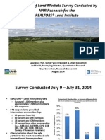 2014 Overview of Land Markets Survey