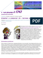 Enseñar a componer (1C— Normas