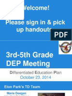 3rd-5th grade dep meeting