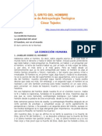 Tejedor Cesar - El Grito Del Hombre - Antropologia Teologica.RTF