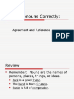 CH 26 Using Pronouns Correctly--Agreement and Reference