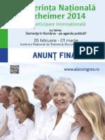 Anun Final Conferin a Na Ional Alzheimer