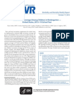 Vaccination Coverage Among Children in Kindergarten — United States, 2013–14 School Year