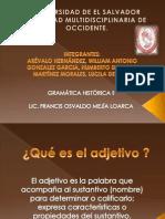 ADJETIVOS. GRAMATICA HISTORICA..pptx