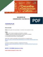 Programación Encuentro de Comunicación y Cultura Perú 2014