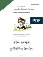 El ronroneo del gato para la curación