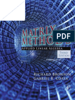 Matrix Methods,Applied Linear Algebra,Third Edition