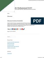 Minuman _ Hadis Nabi Muhammad SAW