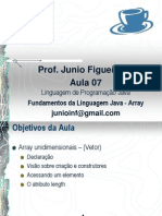 Aula 07 - Fundamentos da Linguagem Java - Array.pdf